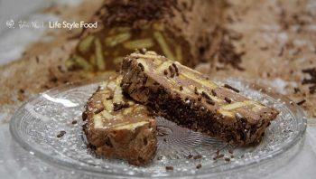 Κορμός σοκολάτα με μπισκότα