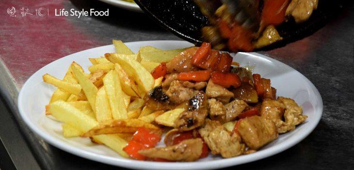 Drunken chicken with veggies